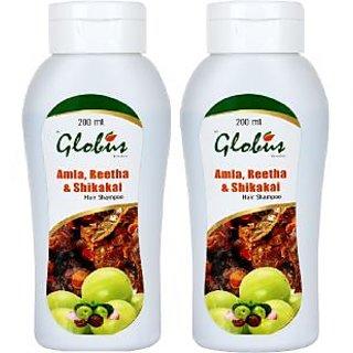 Globus Amla,Reetha  Shikakai Hair Shampoo Pack Of 2