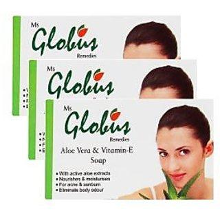 Globus Aloe Vera Vitamine-E  Milk Cream Soap Pack Of 3