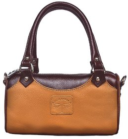 Roll over image to zoom in Tamanna Simple  Small Leather Handbag for Women