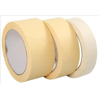 2 Inch - 25 Meter Loin Masking Tape for Carpenters Painters (Buy 2 Get 1 Free)