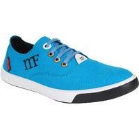 Marco Ferro Men's Blue Lace-up Casual Shoes