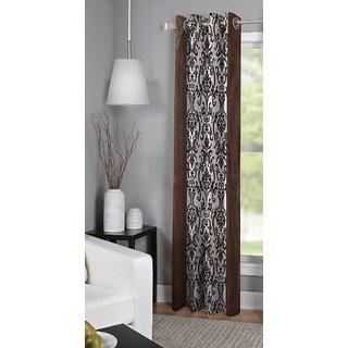 S Trendz Single Printed Door Curtain Set Of 2 (7 FT)