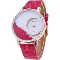 Half Moon Red Color Analog Watch-For Women By Uttam Exim