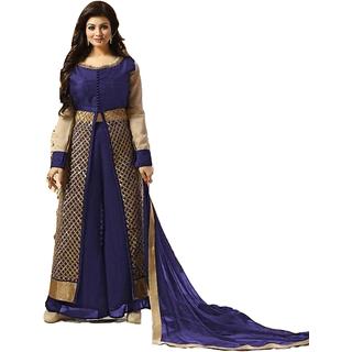 lovit  Boutique Blue Dress Material For Women