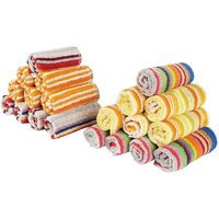 JARS Collections Set Of 15 Cotton Stripes Face Towel