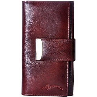 Tamanna Women Brown Genuine Leather Wallet  (11 Card Slots)