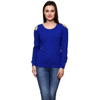 Renka Women's Blue Color Winter Pullover