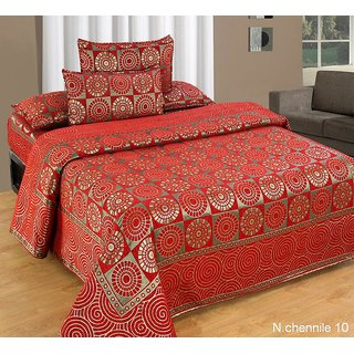 Akash Ganga Multi-Colour Chenille Bed Cover (BC-11)