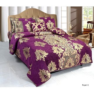 Akash Ganga Double Chenille Ethnic Bedcover (BC-62A)