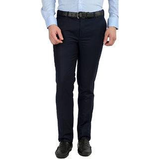 Gwalior Blue Slim Fit Formal Trouser