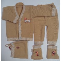 JS Baby Soft Woolen Knitted Suit (4 piece)