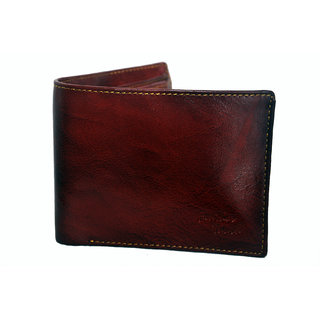 NoVowels Gents Wallet Soft Leather Red (Synthetic leather/Rexine)