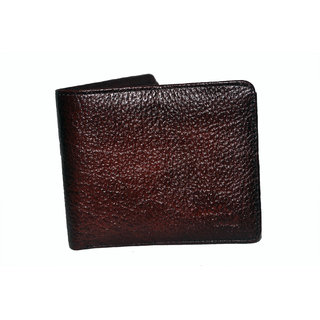 NoVowels Gents Wallet Hard Leather Red (Synthetic leather/Rexine)