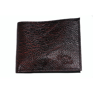 Novowels Gents Wallet Hard Leather Brown (Synthetic leather/Rexine)
