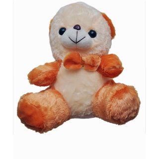 NoVowels Soft Teddy With Bow in Cream and Brown Color 25Cm