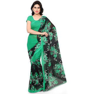 Printed Faux Georgette Casual Saree by Melluha With Blouse Piece Color
