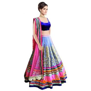 Aracruz Multi Color Silk  Net Heavy Lehenga Choli