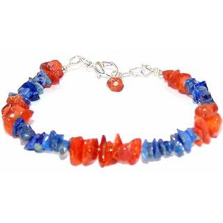 Lapis Lazuli And Carnelian Bracelet