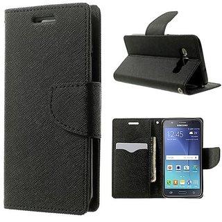 MERCURY Wallet Flip case Cover for  Sony Xperia C5  (BLACK)