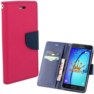 MERCURY Wallet Flip case Cover for Reliance Lyf Earth 1 (PINK)