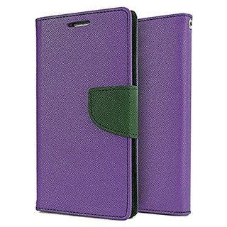 Wallet Flip Cover FOR Microsoft Lumia 540 (PURPLE)
