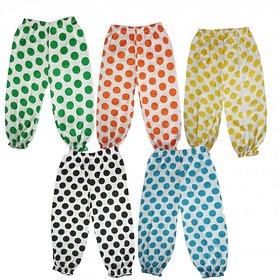 DMK Girls Cotton Multicolour Capri pack of 5 Pcs