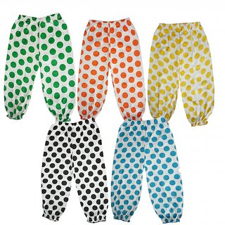 DMK Girls Cotton Multicolour Capri pack of 5 Pcs