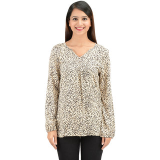 2180ce36ca7d9 Buy Timbre Women Designer Fashion Tops Leopard Print Full Sleeves ...