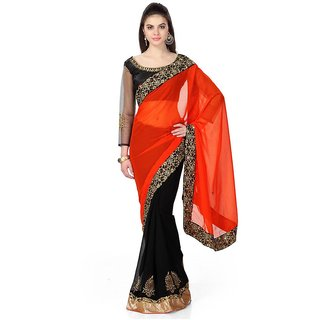Buy Fashion Founder Designer Half Half Saree With Unstitched Blouse Online Get 38 Off