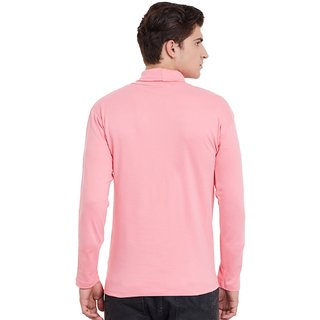 8e669509451067 Buy Hypernation Mens Pink Color Full Sleeves High Neck Cotton T-Shirt  Online - Get 33% Off