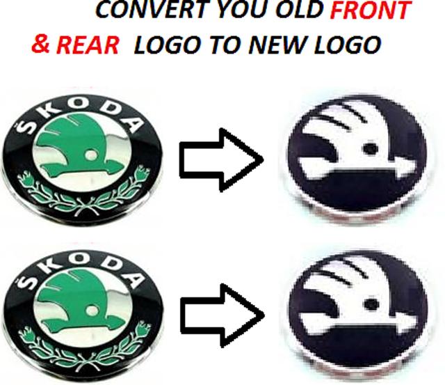 Skoda Octavia Car Monogram Emblem Chrome Skoda Car Monogram Logo Emblem New