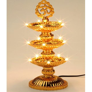 VRCT 21 Deep Golden Diwali Diya Lights Plastic