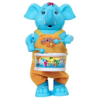 only4you Playking Funny Windup Elephant Drummer Toy