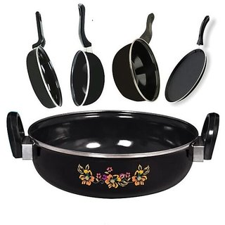 Milton Non Stic Cookware Set of 5 PCS