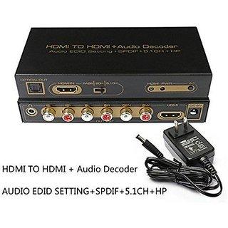 HDMI TO HDMI 5 1 Audio Decoder SPDIF 1080P converter