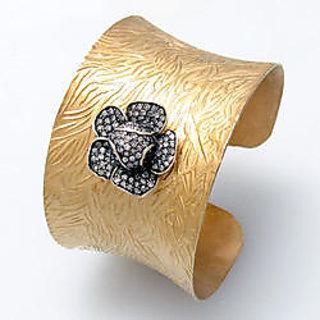 Gem O Sparkle Silver Cuff Bracelet