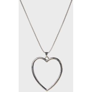The99Jewel Silver Plated Statement Chain Pendant - AAB0475