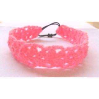 Pink woolen knit cute headband/hairband