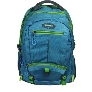 BagsHub Blue  Green Unisex Backpack (B0626-0001500063-V0011)