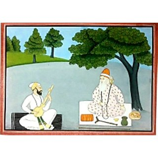 Hand made pahari miniature painting