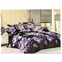 Sai Arpan'S Luxurious 3D Print Double Bed Sheet With Pillow Covers D.No. 2121