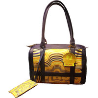 Tribal Tote Bag With Handy Mobile Pocket