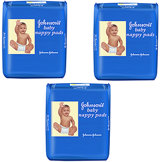 caecdd9715d Buy Johnson S Baby Nappy Pads - 20 Pads Pack Of 3 Online   ₹480 ...