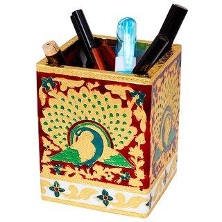 Gomati Ethnic Oxidized Jaipuri Fine Meenakari Work Pen Stand