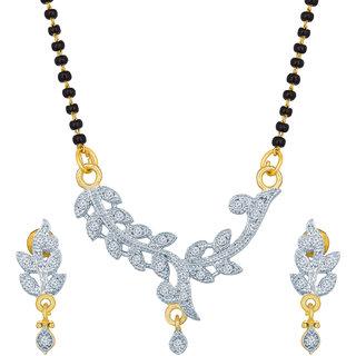 The Luxor Regular Wear Australian Diamond Studded Mangalsutra Set MS-1394