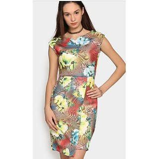 Nineteen Women Multicolor Printed Sheath Dress