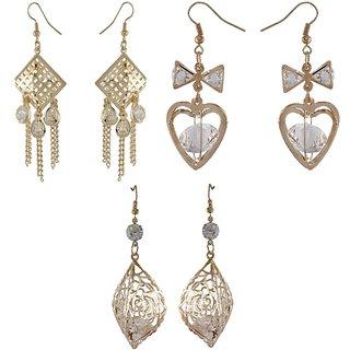 9blings Combo 3 Gold Pair Of Earring