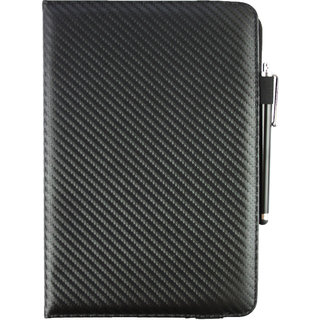 Emartbuy Odys Prime Tablet PC Universal ( 9 - 10 Inch ) Black Carbon 360 Degree Rotating Stand Folio Wallet Case Cover + Stylus