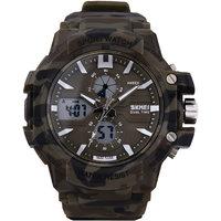 SKMEI Men's Analog - Digital Military Sports Watch With Rubber Strap SKMEI.FD.0990 ARMY DARK GREEN
