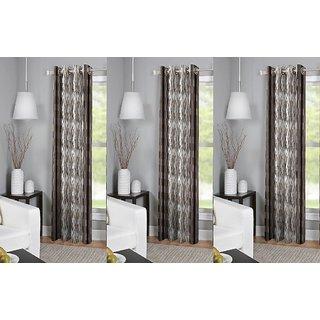 R Trendz  Printed door Curtain Set Of 3 (4x7)